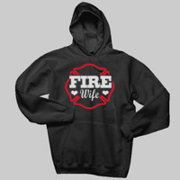 Fire Wife Glitter Sweatshirt