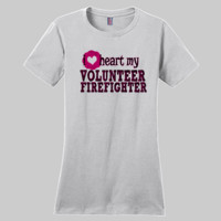 Heart My Volunteer - Ladies Premium Crew T