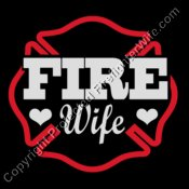 FireFighterWife Glitter Design