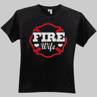 Fire Wife Glitter Women's Looser Cut T